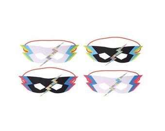 Zap! Super Hero Masks, Kids, Birthday, Party, Theme, Favor, Decor, Supplies, Meri Meri