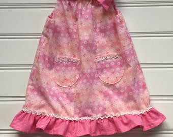 Girl Summer Dress, Toddler Girl Dress, Girl Sundress, Toddler Summer Dress, Toddler Dress, Floral Dress, Pink Dress 3T ready to ship