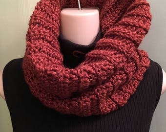 Cowl Miss Claire Inspired Cowl chunky knit Brown womens cowl, sassenach claire , chunky cowl, Miss Claire Cowl,  Scarf