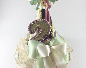 2nd Birthday Hat. Princess Birthday. Girls Birthday Hat. Smash Cake Session.