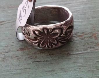 fine silver butterfly scroll ring