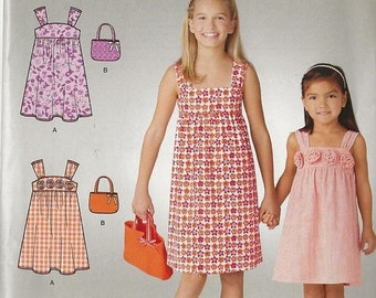 ON SALE Child's Sun Dress and Bag Sewing Pattern Simplicity 1647 Easy Childs Sewing Pattern Sizes 3 - 4 - 5 - 6 - 7 - 8-10-12-14 UNCUT