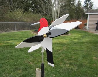 Red Headed Woodpecker Whirligig