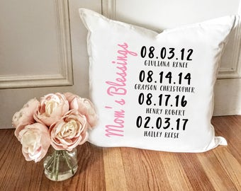 Mothers Blessings Milestone Pillow Cover