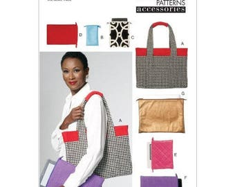 Vogue V8802 Tote and Electronic Device Cases Sewing Pattern / Uncut/FF