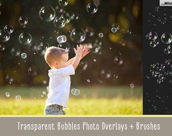 Bubble overlays, bubble brushes, png, transparent, bubble clipart, clip art, background, textures, bubbles for photoshop, realistic, action