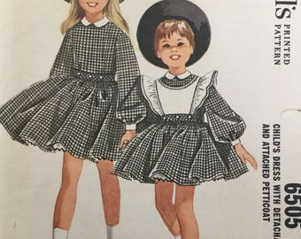 "Sewing pattern - girls dress pattern -  vintage sewing pattern -  Size 4 - Breast 23"" - child's sewing pattern"