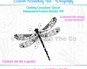Dragonfly Branding Kit, Clocon, IFR, Made to Order, Marketing, Customize, Business Cards, Letterhead, Envelopes, Social Media, Printable