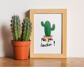 Poster Cactus - Succulent plant - Download and print