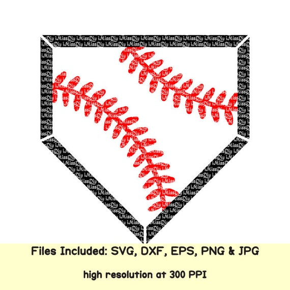 Baseball Home Plate Svg Cheer Mom Dad Coach Stitches Life