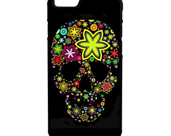 Colorful Skull iPhone Galaxy Note LG HTC Hybrid Rubber Protective Case
