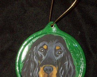 Gordon Setter Dog Custom Painted Christmas Ornament Decoration