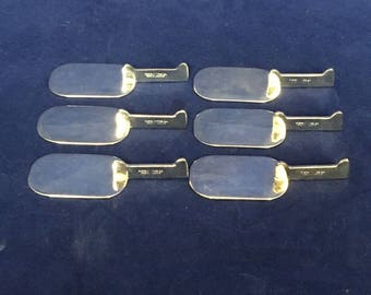 Plata Lappas SET OF 6 Knife Rests Silver Plate Art Deco Vintage VTG