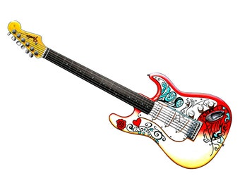 Jimi Hendrix's Fender Stratocaster used at Monterey CANVAS PRINT