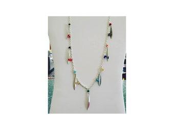 Multi Gemstones Chain Necklace