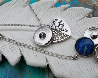 Mother's Day Snap Pendant w/chain * Ginger Snaps jewelry * Interchangeable jewelry * Fits 18-20mm snap buttons * Snap on jewelry * Noosa