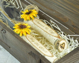 Rustic Wedding Cake Server Set and Knife Wedding Cake Serving Set Personalized Wedding Cake Server Rustic Outdoor Wedding Decoration