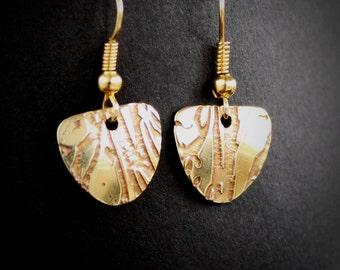 Nature, wood, bark, Tree jewelry, Celtic earrings, Irish Gift, Irish Jewelry, Celtic Jewelry,  zen jewelry, brass earrings, brass jewelry