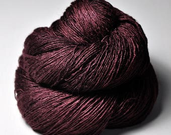 Dark blood velvet - Tussah Silk Lace Yarn