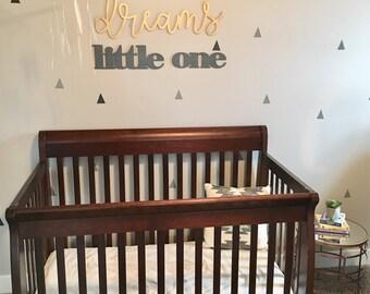 Sweet Dreams Little One Wall Decor Wood Cutout, Wooden Word