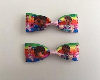 Mini Super Cute Doc McStuffins Hair Clips