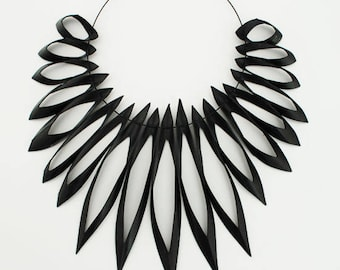 Statement Necklace Re-used / Recycled Bicycle Inner-tube, Tire, Rubber - Extrema