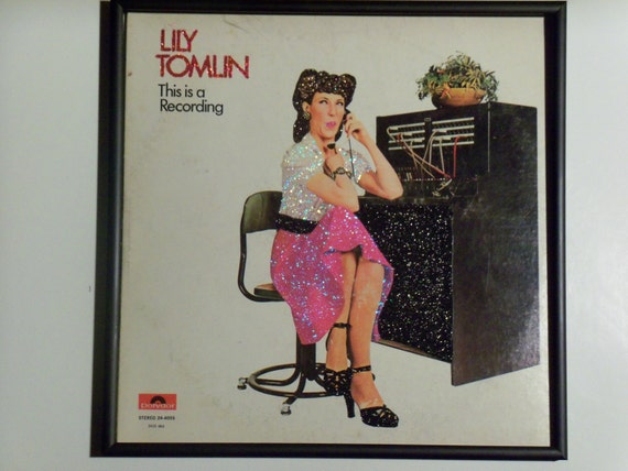 Glittered Record Album - Lily Tomlin - This is a Recording