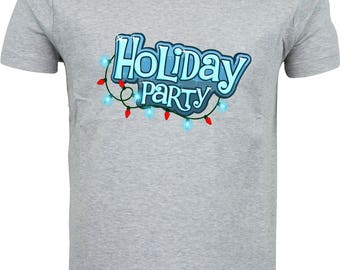 Holiday Party funny humour gift xmas  full color sublimation t shirt