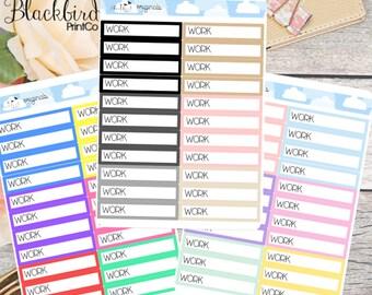 Work Scheduling Planner Stickers [BR0001]