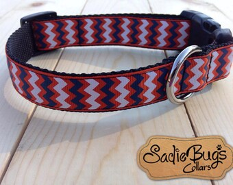 Auburn Tigers chevron dog collar - War Eagle