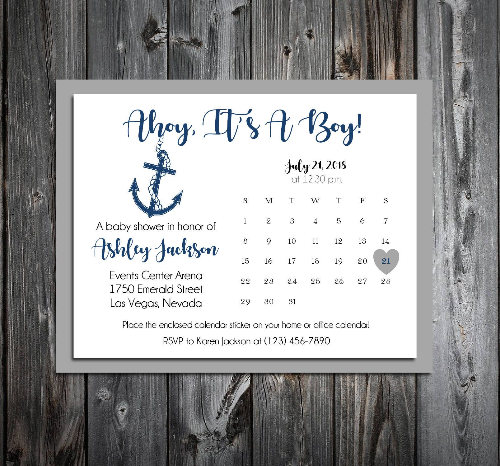 25 Nautical Ahoy It\'s A Boy Baby Shower Invitations set - Price ...