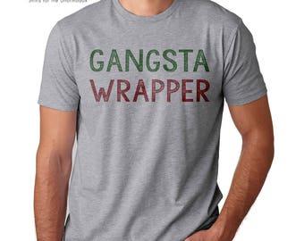 funny christmas shirt gangsta wrapper shirt best wrapper ever merry af jolly af shirt xmas scrooge christmas shirt merry christmas shirt