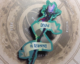 Druid in Training Wood Pin badge