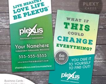 Plexus Teal Watercolor Business Card Design [DIGITAL FILES]