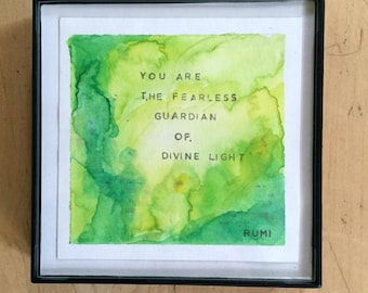 Abstract watercolor painting home decor motivational quote art print art decor abstract watercolor art yoga art yogi art inspirational art
