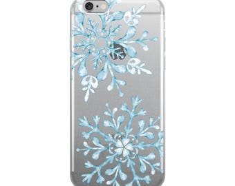 Snowflake iPhone Case - iPhone 7 Case - Winter Fashion - Clear iPhone 6s Case Transparent iPhone 6 Case - iPhone X Case - iPhone 6 Plus Case