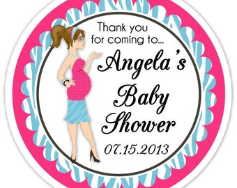 Baby Shower Diva Stickers, Custom Baby Shower Labels, Personalized for YOU