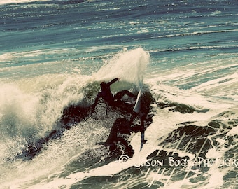 California Surfing - Summer Dream - 8x12 Surf photo cool tones, Huntington Beach, surf photo, surfing photography, wall art, beach decor