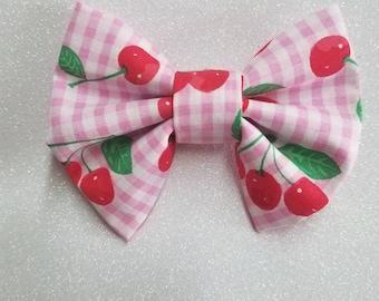 Cherry Hair Bow