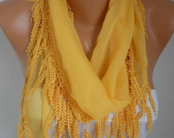 Easter gift,Summer Yellow Scarf Cotton Cowl Scarf  Bridesmaid Gift Gift Ideas For Her Women Fashion Accessories  best selling item scarf