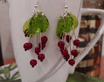 "Beautiful original design dangling earrings ""Berries"""