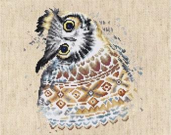 Cross Stitch Kit Owl DIY Cross Stitch Set Modern Cross Stitch Punto de cruz Point de croix Embroidery Luca-S Wall Decor Idea gift