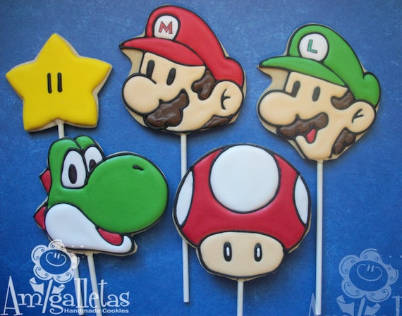 Image result for Mario Brothers Cookie images
