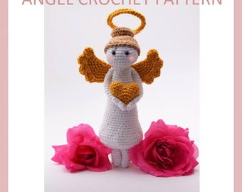 crochet angel pattern, crochet angel ornaments, amigurumi angel, amigurumi pattern, Christmas pattern, Christmas tree decor
