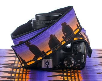 Camera Strap dSLR, Cowboy, Purple Sunset, Cowgirl, Western, SLR, Camera Neck Strap, Canon Nikon Camera Strap, Men's Camera Strap,  251