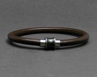 NEW DESIGN Mens Bracelet Stainless Steel, Leather Bracelet For Men, For Husband,  For Boyfriend, Boyfriend Gift, Customised On Your Wrist