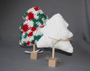 Christmas trees ~ Set of two ~ Crochet