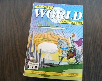 RARE Collectible: V11 Picture World Encyclopedia (1959)