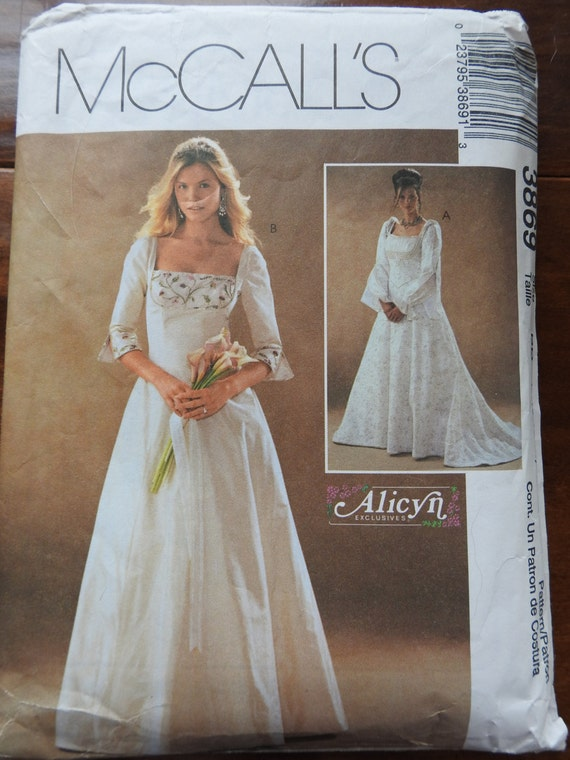 McCalls 3869 Women\'s Elegantly Lined Wedding Gowns Sewing Pattern ...