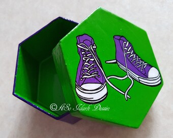 Small box hexagonal custom converse